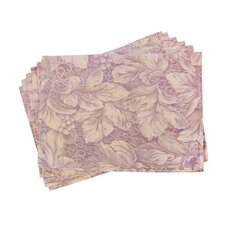 Lined Jacquard Floral Placemat (Set of 6)