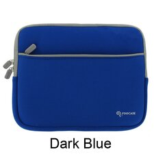"Dual Pocket Neoprene Sleeve Invisible Zipper Case for 10.1"" Netbook"