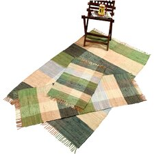 Check Chindi Green 3 Piece Accent Rug Set