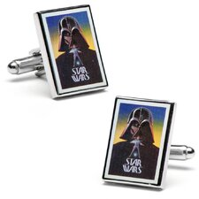 Vintage Star Wars Darth Vader Movie Poster Cufflinks