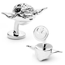 Star Wars Palladium 3-D Yoda Head Cufflinks
