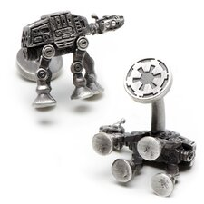 Star Wars Palladium Plated 3D AT-AT Walker Cufflinks
