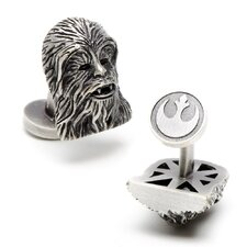 Star Wars Palladium Plated 3D Chewbacca Cufflinks