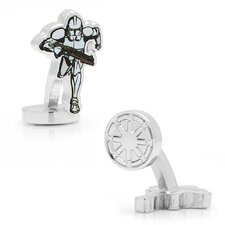 Star Wars Rhodium Plated Clone Trooper Action Cufflinks
