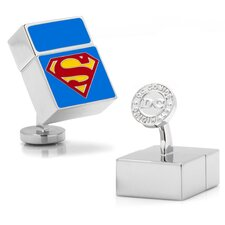 DC Comics Silver Plated Superman 4GB USB Cufflinks