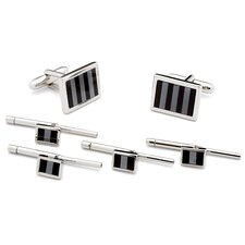 Striped Mosaic Stud Set