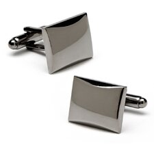 Gunmetal Rectangular Engravable Cufflinks