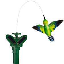 Solar Powered Fluttering Hummingbird Garden Stake