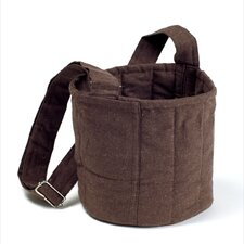 Two Tier Carrier Bag in Plum Brown