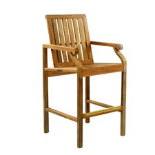 "Nantucket 28"" Teak Outdoor Bar Chair"
