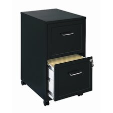 "Home Office 18"" Deep 2 Drawer Vertical Mobile File Cabinet"