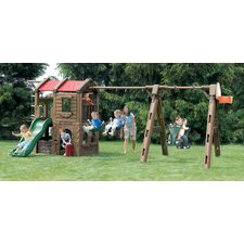 Naturally Playful Adventure Lodge Play Center Swing Set