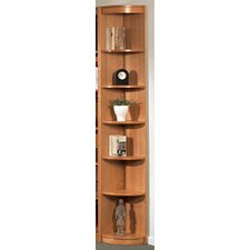"Classic Soft 85"" H Six Shelf Outside Corner Bookcase"
