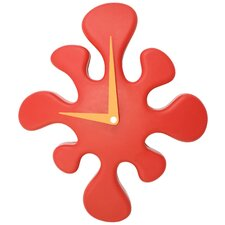 Mini Splat Clock in Red