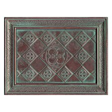 "Castle Metals 16"" x 12"" Clover Mural Decorative Wall Tile in Aged Copper"