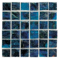 "Elemental Glass 12"" x 12"" Mosaic Tile in Cornflower"