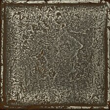 "Metal Signatures Chateau 4-1/4"" x 4-1/4"" Glazed Field Tile in Aged Iron"