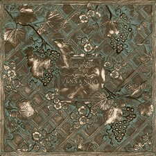 "Metal Signatures Trellis Mural 12"" x 12"" Decorative Tile in Aged Bronze"