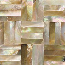 "Ocean Jewels 2"" x 2"" Basketweave Accent Tile in Brown Lip"