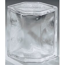 "Glass Block 8"" x 6"" Decora Hedron Corner Unit"