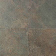 "Continental Slate 18"" x 18"" Field Tile in Brazilian Green"