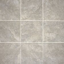 "Del Monoco 13"" x 13"" Glazed Field Tile in Leona Grigio"