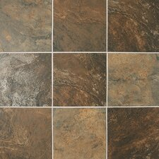 "Franciscan Slate 18"" x 18"" Unpolished Field Tile in Terrain Marrone"