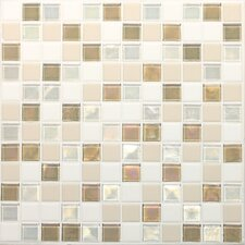 "Keystones Blends 12"" x 12"" Porcelain with Oceanside Glass Mosaic Tile in Coconut Beach"
