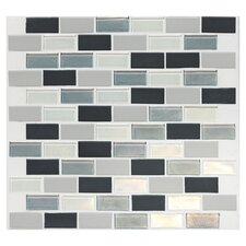 "Keystones Blends 12"" x 12"" Porcelain with Oceanside Glass Mosaic Tile in Tropical Thunder"