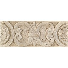 "Fashion Accents 8"" x 3"" Romanesque Decorative Listello in Medallion Travertine"