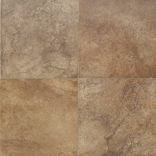 "Florenza 12"" x 12"" Plain Floor Tile in Brun"