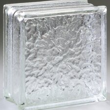 "Glass Block 8"" x 8"" Icescapes Block"