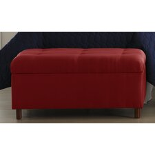 Micro-Suede Bedroom Storage Ottoman