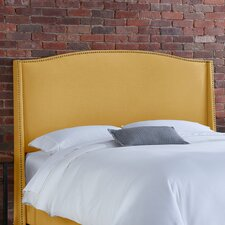 Nail Button Linen Wingback Headboard