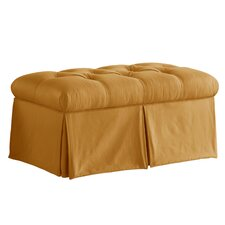 Tufted Skirted Bedroom Storage Ottoman
