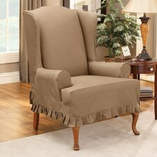 Colette Wing Chair T-Cushion Slipcover