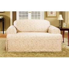 Scroll Classic Sofa T Cushion Skirted Slipcover