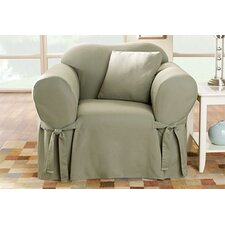 Cotton Duck Club Chair Slipcover