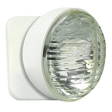 Round Remote Head for Emergency Light in White