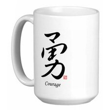 Chinese Stylish Calligraphy Courage 15 oz. Coffee / Tea Mug