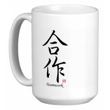 Chinese Stylish Calligraphy Teamwork 15 oz. Coffee / Tea Mug