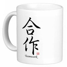 Chinese Stylish Calligraphy Teamwork 11 oz. Coffee / Tea Mug
