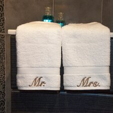 Luxury Hotel and Spa Personalized Mr. and Mrs. Hand Towel (Set of 2)