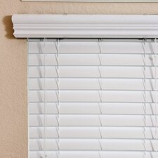 "Thermal Insulation Faux Wood Blind in White -  60"" H"