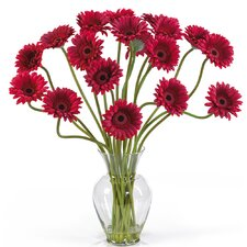 Liquid Illusion Silk Gerber Daisy Arrangement in Red