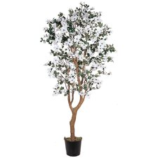 "60"" Silk Dogwood Tree in White"