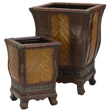 Square Decorative Planters (Set of 2)