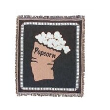 Bass Theatrical Popcorn Cotton Throw Blanket