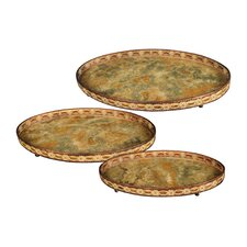 Appaloosa 3 Piece Oval Serving Tray Set