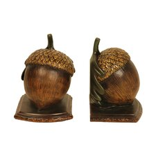 Muir Wood Acorn Bookends (Set of 2)